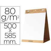 Bloco congresso bi-office liso autoadesivo secretaria 500 x 585 mm papel de 80g/m²