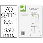 Bloco de papel auto adesivo q-connect 70 grs