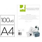 Acetato q-connect a4 para fotocopias a duas faces caixa com 100 unidades