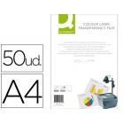 Acetato q-connect a4 para impressao laser a cores caixa com 50 unidades