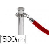 Cordao entrelaçado vermelho 1500 mm para poste separador