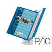 Porta catalogos quick find bolsa azul