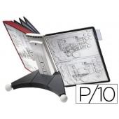 Porta catalogos secretaria durable sherpa table 10 bolsas ampliaveis din a4