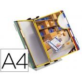 Porta catalogo secretaria pvc tarifold con 10 bolsas din a4 em cores sortidas