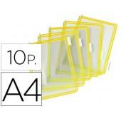 Bolsa para porta catalogo tarifold din a4 com pivots amarelo pack de 10 unidades