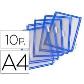 Bolsa para porta catalogo tarifolddin a4 com pivots azul pack de 10 unidades