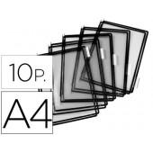 Bolsa para porta catalogo tarifold din a4 com pivots preto pack de 10 unidades