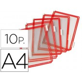 Bolsa para porta catalogo tarifold din a4 com pivots vermelho pack de 10 unidades