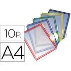 Bolsa para porta catalogo tarifold din a4 com pivots cores sortidas pack de 10 unidades