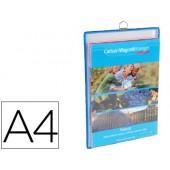 Bolsa para pendurar tarifolddin a4reforçada e com asa vertical cor azul pack de 5 unidades