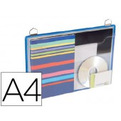 Bolsa para pendurar tarifolddin a4reforçada e com asa horizontal cor azul pack de 5 unidades
