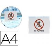 Bolsa autoadesiva 3l office resistente al agua din a4 pack de 10 unidades