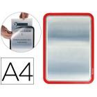 Moldura porta-anuncio magnetico tarifold din a4 enpvc cor vermelho pack de 2