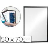 Moldura porta anuncios durable magnetico 50x70 cm dorso adesivo removivel cor preto