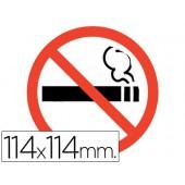 Letreiro adesivo - proibido fumar - 114x114 mm