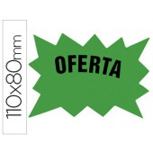 Etiquetas marca-precos verde fluorescente 110x80 mm pack 50
