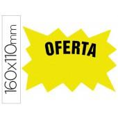 Etiqueta cartolina fluo amarelo 160x110mm -bolsa 50 unidades