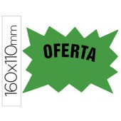 Etiquetas marca-precos verde fluorescente 160x110 mm pack 50