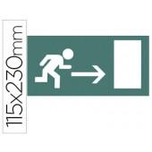 Etiqueta adesiva apli de sinalizacao indicador direita porta saida 115x230 mm