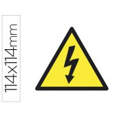 Etiqueta adesiva apli de sinalizacao simbolo alta tensao 114x114 mm