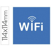 Etiqueta adesiva apli de sinalizacao simbolo wifi 114x114 mm