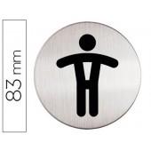 Pictograma adesivo durable wc homem 83 mm ø