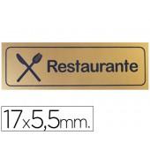Letreiro plastico adesivo restaurante 17x5.5mm-blister 1 unidades - dourado