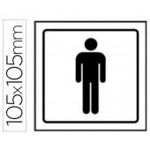 Pictograma syssa sinal de casa de banho homens em pvc 105x105 mm