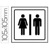 Pictograma syssa sinal de casa de banho homens e mulheres em pvc 105x105 mm