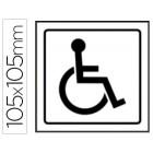 Pictograma syssa sinal de deficientes em pvc 105x105 mm