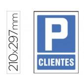 Pictograma syssa sinal de parking clientes em pvc 210x297 mm