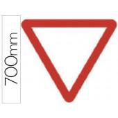 Pictograma syssa sinal de cedencia de passagem em aço galvanizado 700 mm