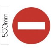 Pictograma syssa sinal sentido proibido em aço galvanizado 500 mm