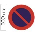 Pictograma syssa sinal de estacionamento proibido em aço galvanizado 500 mm