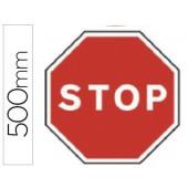Pictograma syssa sinal de stop em aço galvanizado 500 mm