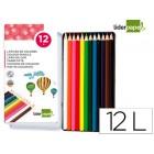 Lapis de cores liderpapel caixa metalica de 12 cores