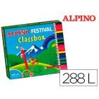 Lapis de cores alpino festival classbox caixa de 288 unidades 12 cores sortidas