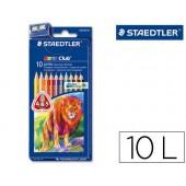 Lapis de cores staedtler noris club caixa de 10 cores triplus + apara lapis