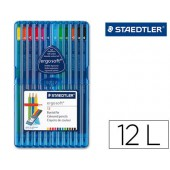 Lapis de cores staedtler ergosoft. 12 unidades