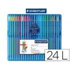 Lapis de cores staedtler ergosoft. 24 unidades