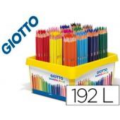 Lapis de cores giotto stilnovo school pack de 192 unidades 12 cores x 16 unidades