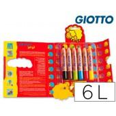 Lapis de cores giotto bebe. 6 unidades