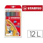 Lapis de cores trio stabilo. 12 unidades