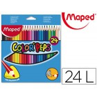 Lapis de cores maped color peps triangulares caixa 24 unidades