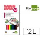 Lapis de cores liderpapel aguarelaveis caixa de 12 cores
