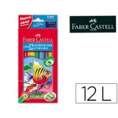Lapis de cores faber-castell aguarelaveis c/ 12 sortidos