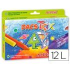 Lapis de cera alpino dacs trix triangul caixa de 12 cores