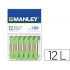 Lapis de cera manley 12 unidades verde amarelado