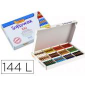 Lapis de cera jovi softywax caixa de 144 unidades 12 cores sortidas