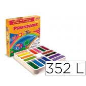 Lapis de cera plastidecor caixa de 352 cores